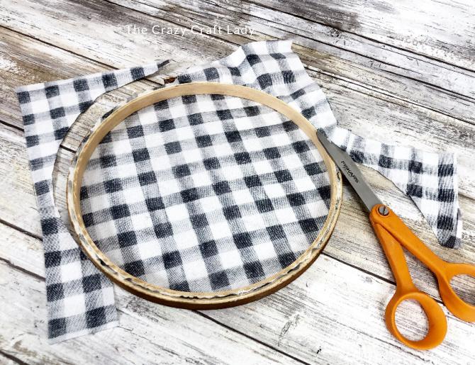trim away excess fabric