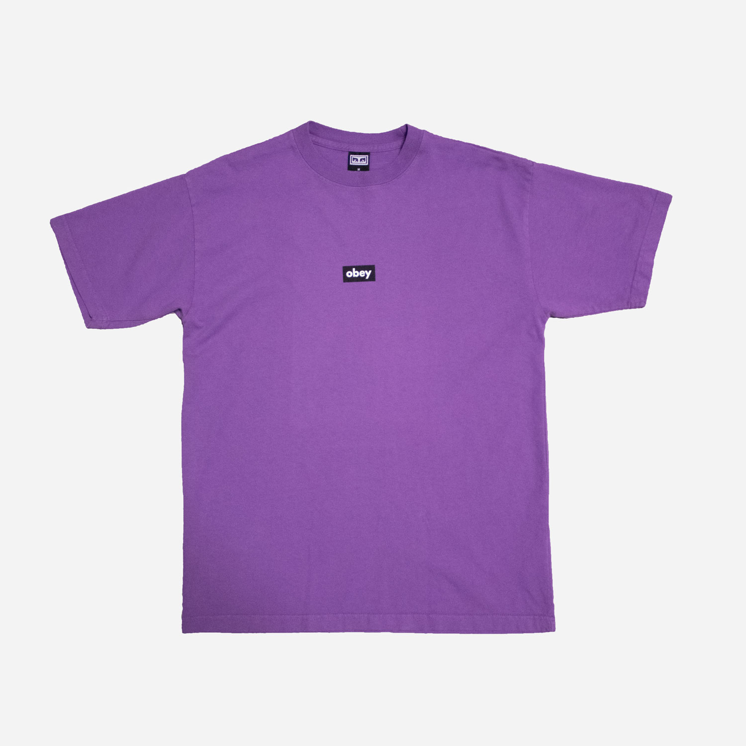 Obey Black Bar Tee - Orchid 0