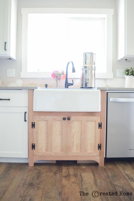 diy reclaimed wood sink cabinet