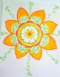 yellow n orange sun mandala