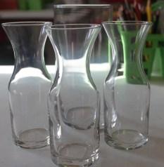 Dollar store vases plain.
