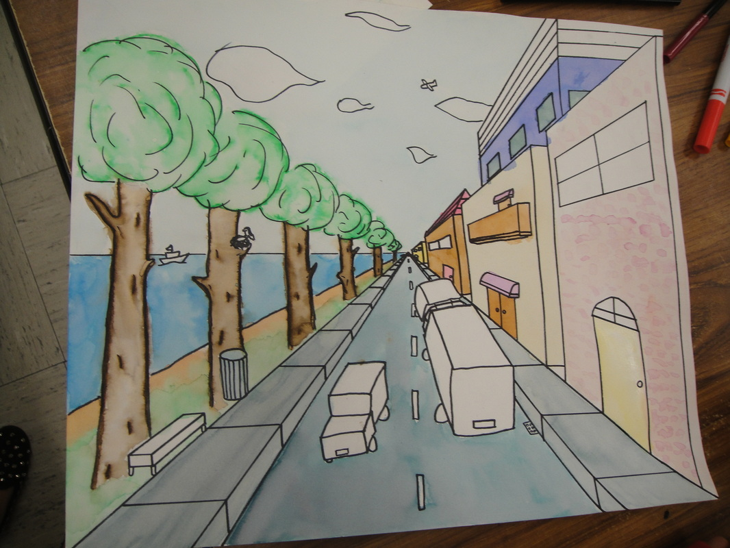 7th Grade One Point Linear Perspective