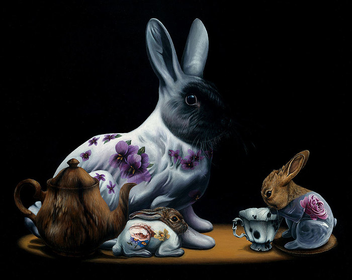 Gorgeous Surreal Animal Paintings By Jacub Gagnon The
