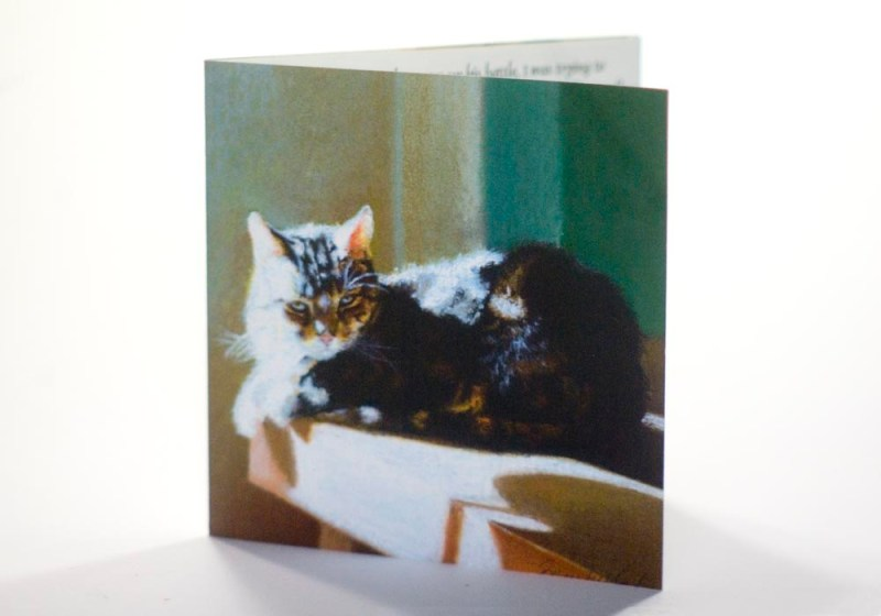 card with cat image
