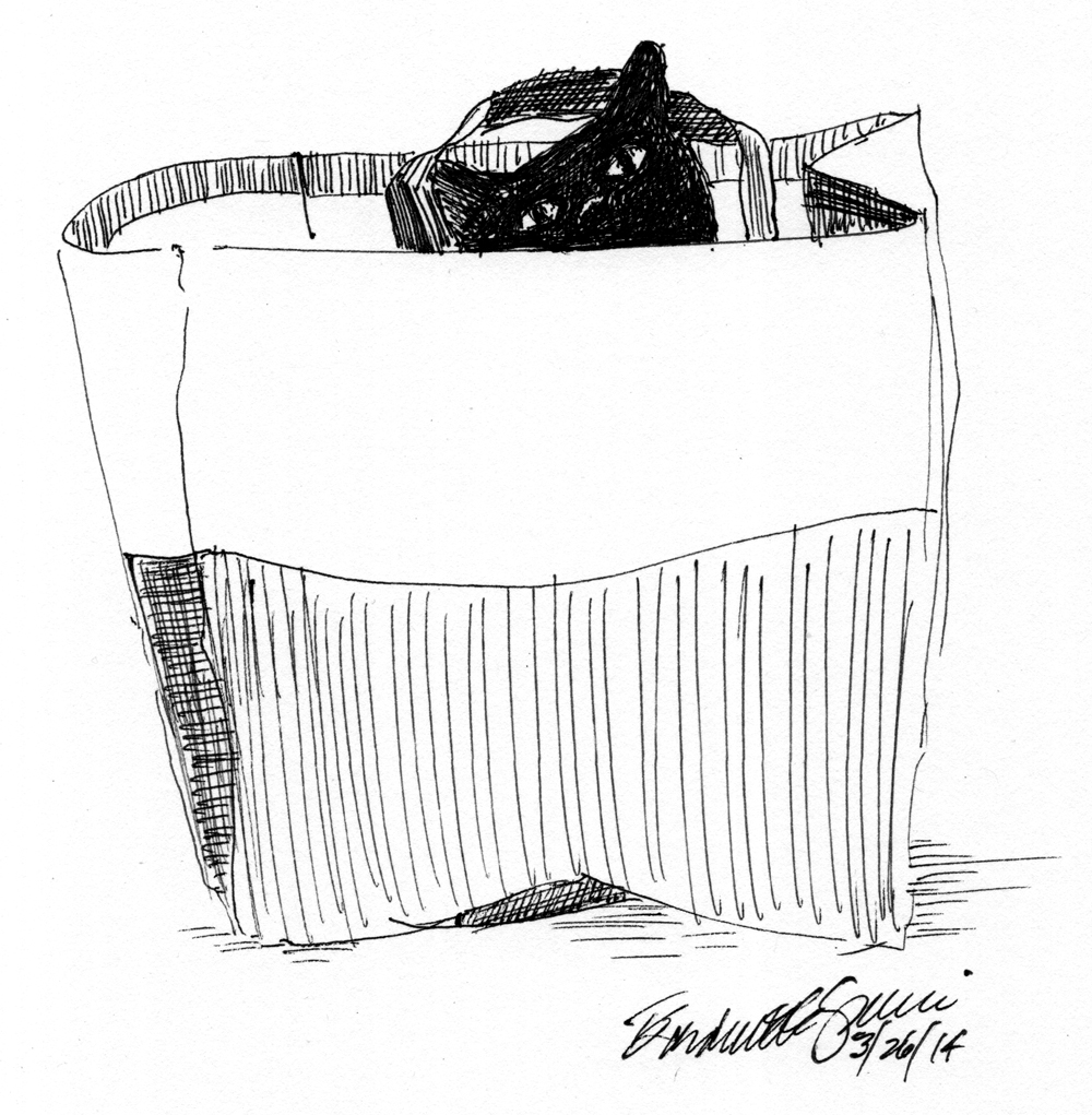 Daily Sketch Reprise: Cat-eating Bag, 2014