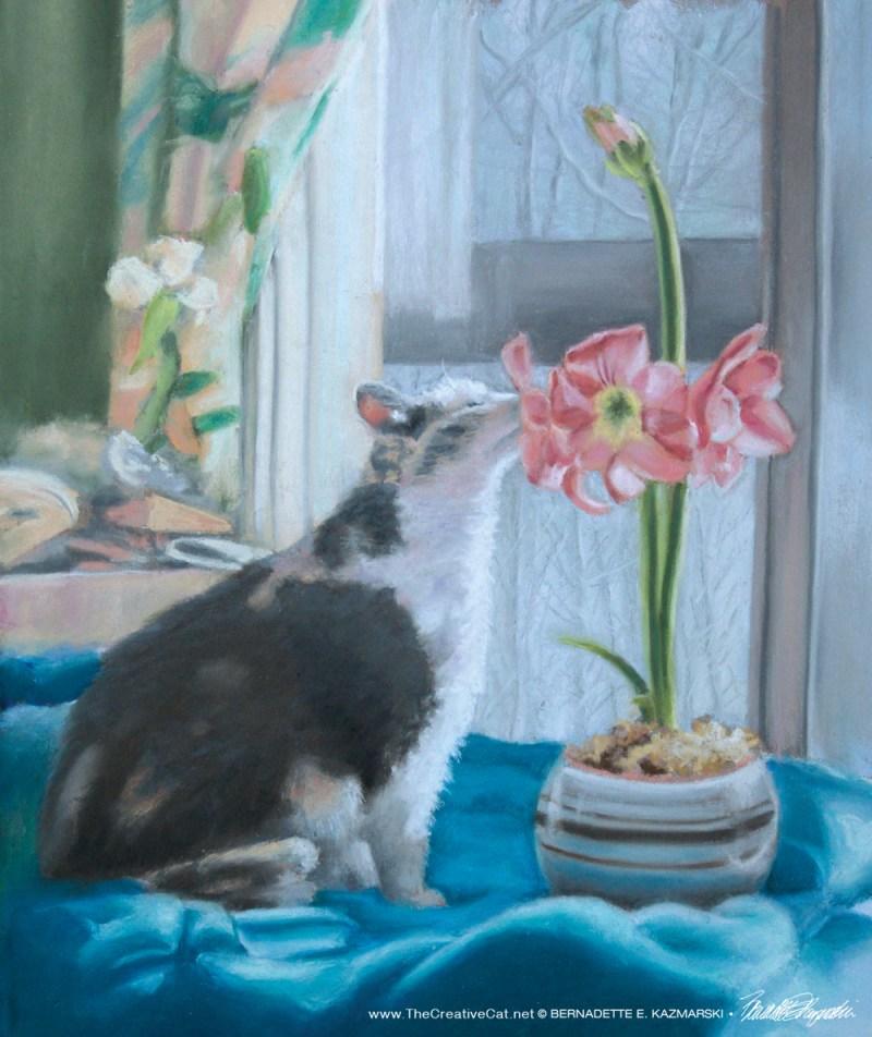 """""""A Wonderful Gift"""", pastel, 12″ x 14″, 2010 © Bernadette E. Kazmarski"""