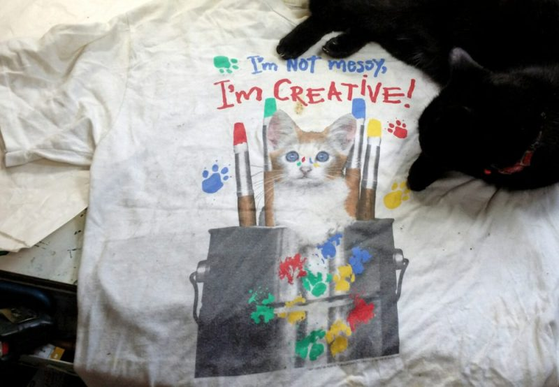 "The ""creative kitten"" tee."