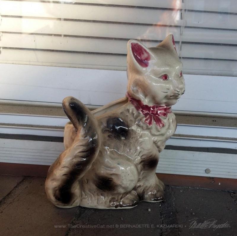 Kitty nuber 3 on the windowsill.