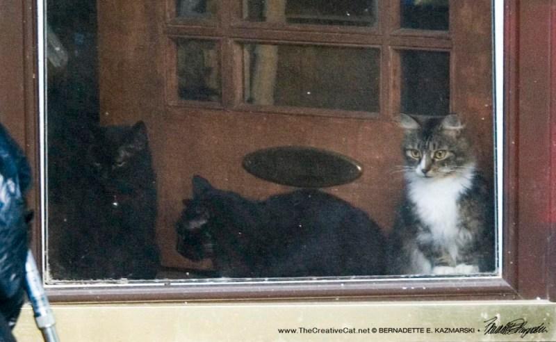 Three at the door.