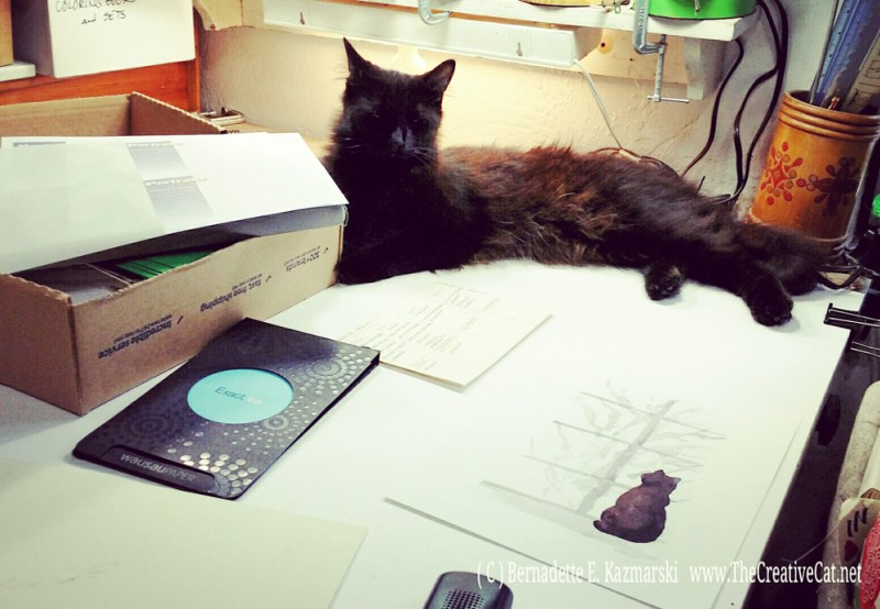 Hamlet in my studio.
