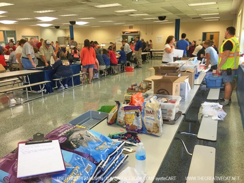 The Fayette County Animal Response Team organized a comprehensive resource center for pet and animal needs in their junior high school.