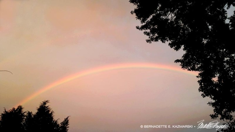 The rainbow Mimi and I saw on Saturday evening.