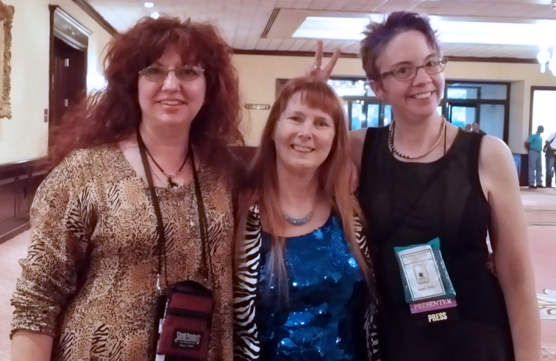 Me, Dusty Rainbolt and JaneA Kelly at the Cat Writers' Conference.