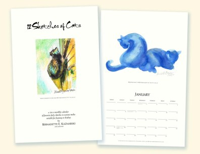"""12 Sketches of Cats Calendar"""