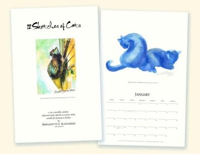 """""""12 Sketches of Cats Calendar"""""""