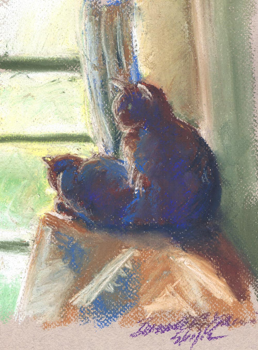 Daily Sketch Reprise: The Sunny Upstairs Window, 2012