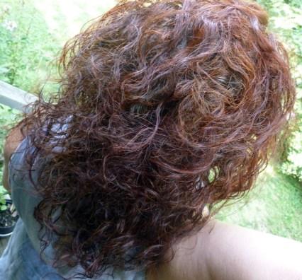 hair with henna