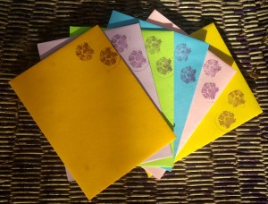 coordinating envelopes for summer brights notecards