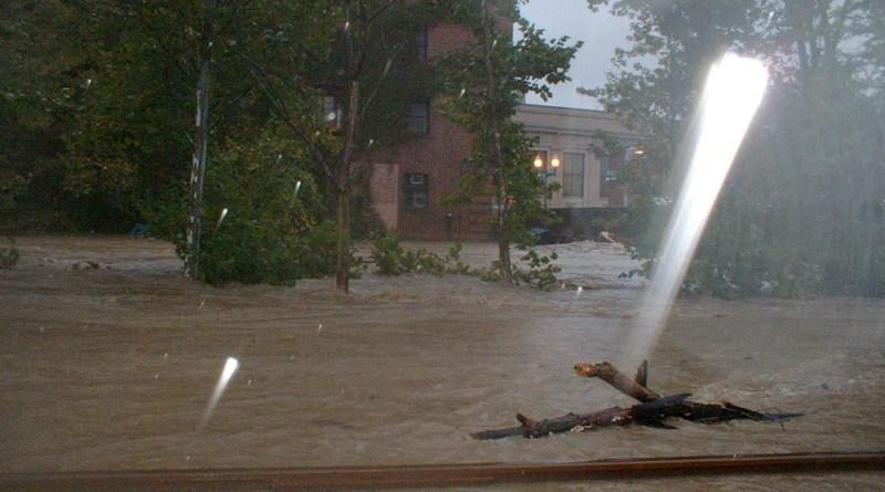 photo of flooding in rain