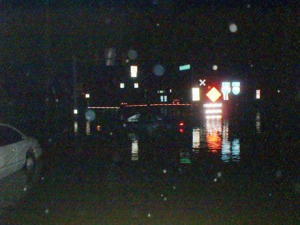 flooding at night