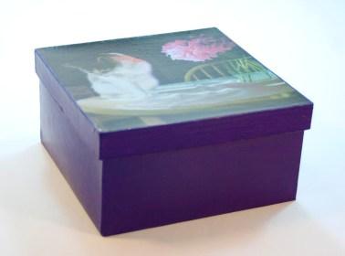 keepsake box with cat art