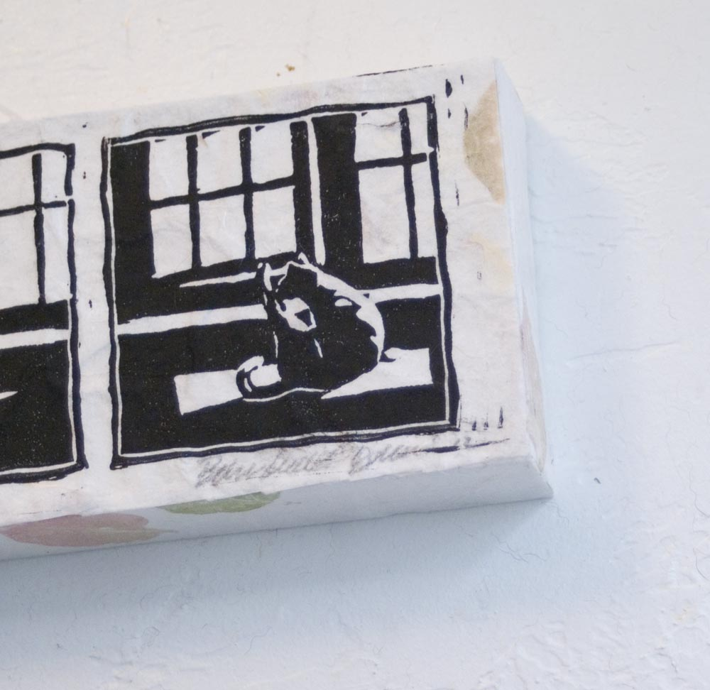 detail of mounted cat print
