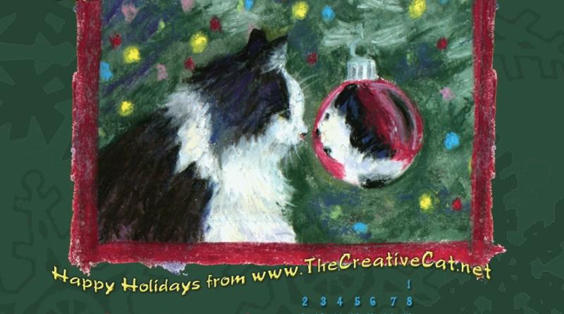 christmas cat desktop calendar