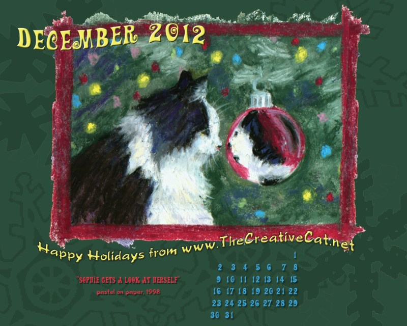 christmas cat desktop calendar