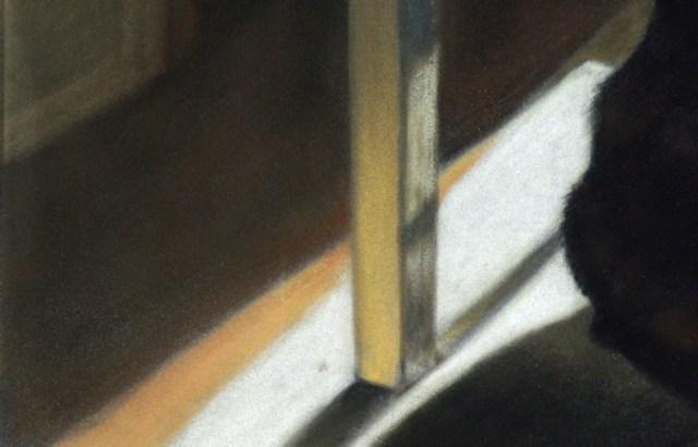 detail of painting little sunflower