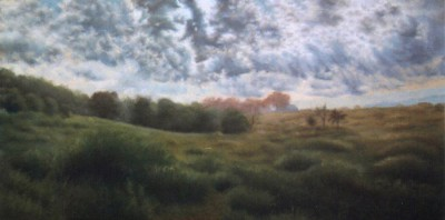 pastel painting of summer landscape