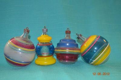 Vintage ornaments from Dandelion's Vintage.