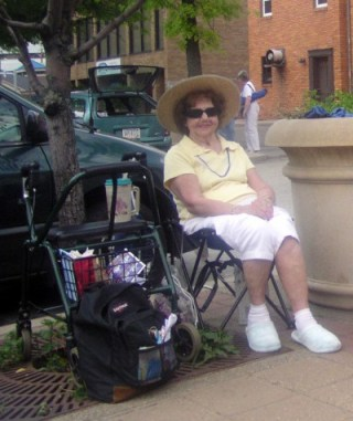 My mother on Memorial Day in 2007.