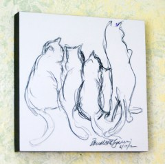 sketch of cats