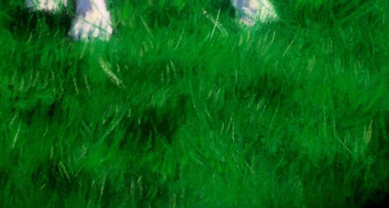 pastel portrait of dalmation