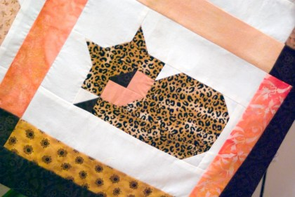 quilt square with cat