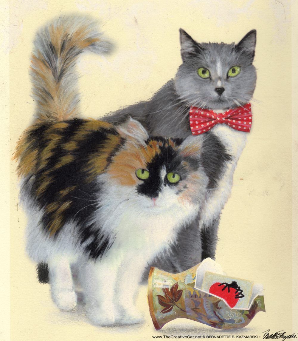"Featured Artwork: New Klepto Cat Book Cover, ""Merriment, Mayhem and Meows"" and #30paintingsin30days"