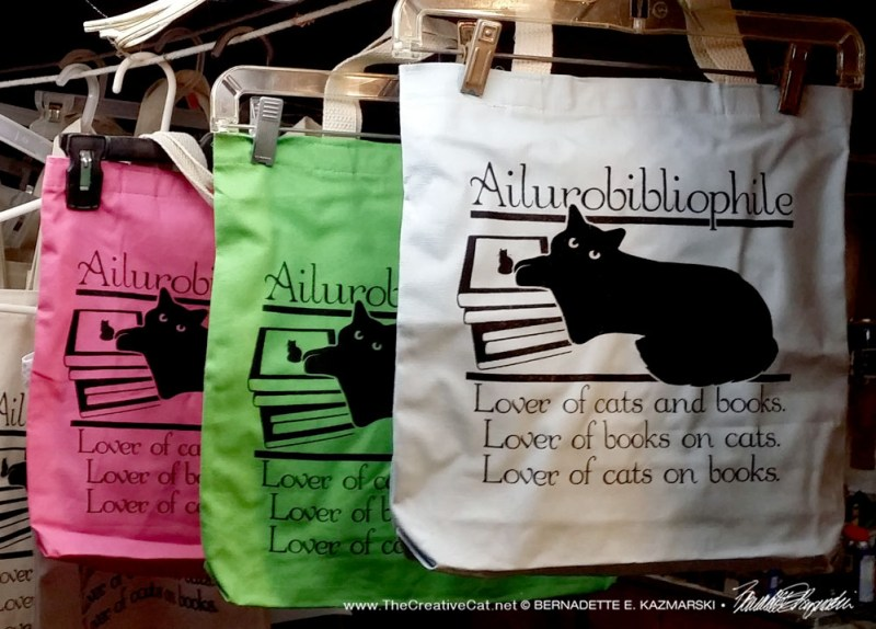 Ailurobibliophile tote bags in four colors!