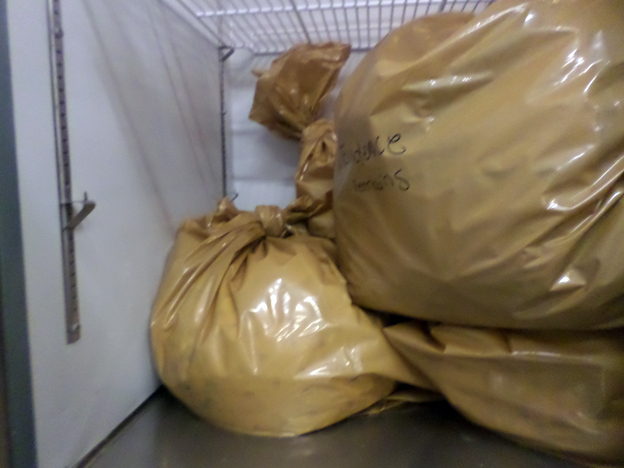 Bags of evidence at the Beaver County Humane Society