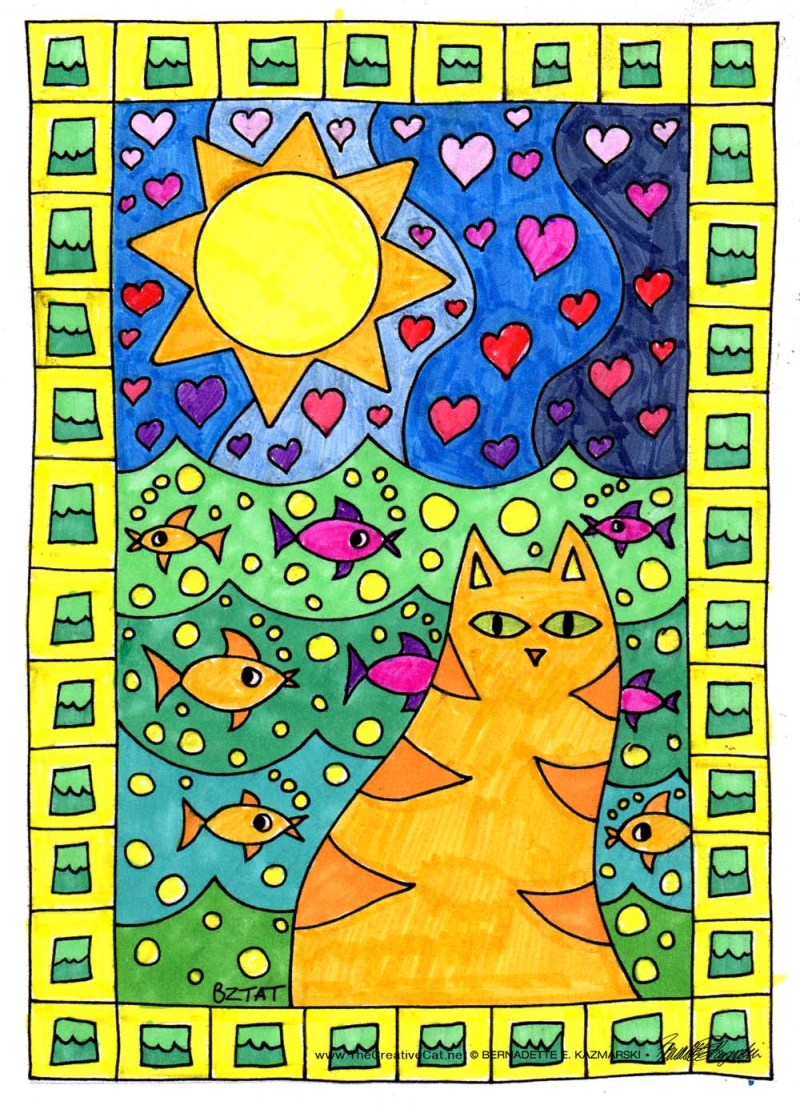 Book Review Color Me Cats By Artist BZTAT And Giveaway