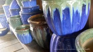Lots of ceramic planters