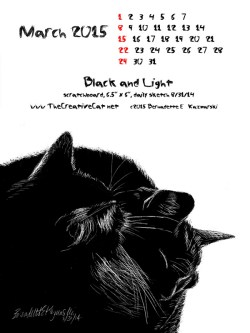 """Black and Light"" desktop calendar, for 600 x 800 for iPad, Kindle and other readers"