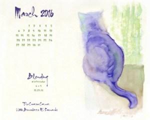 """Blending"" desktop calendar, 1280 x 1024 for square and laptop monitors."