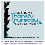 brian's home thankful thursday