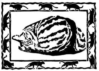 cat block print