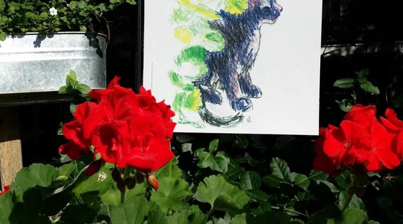 cat garden flag