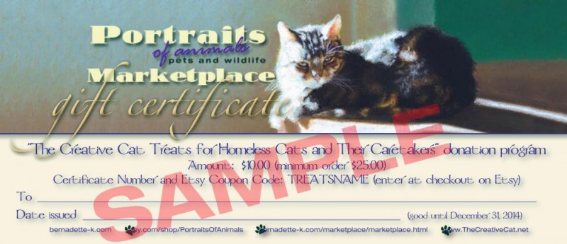 Sample gift certificate.