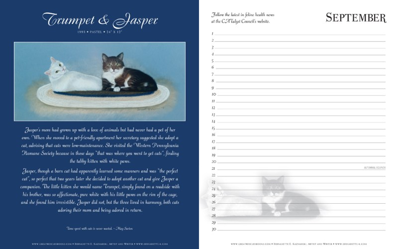 "Trumpet and Jasper's page in ""Great Rescues Day Book"""