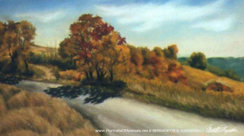 "Harvest of Color, 18"" x 13"", pastel © B.E. Kazmarski (sorry for the quality--my photos weren't the best then!)"