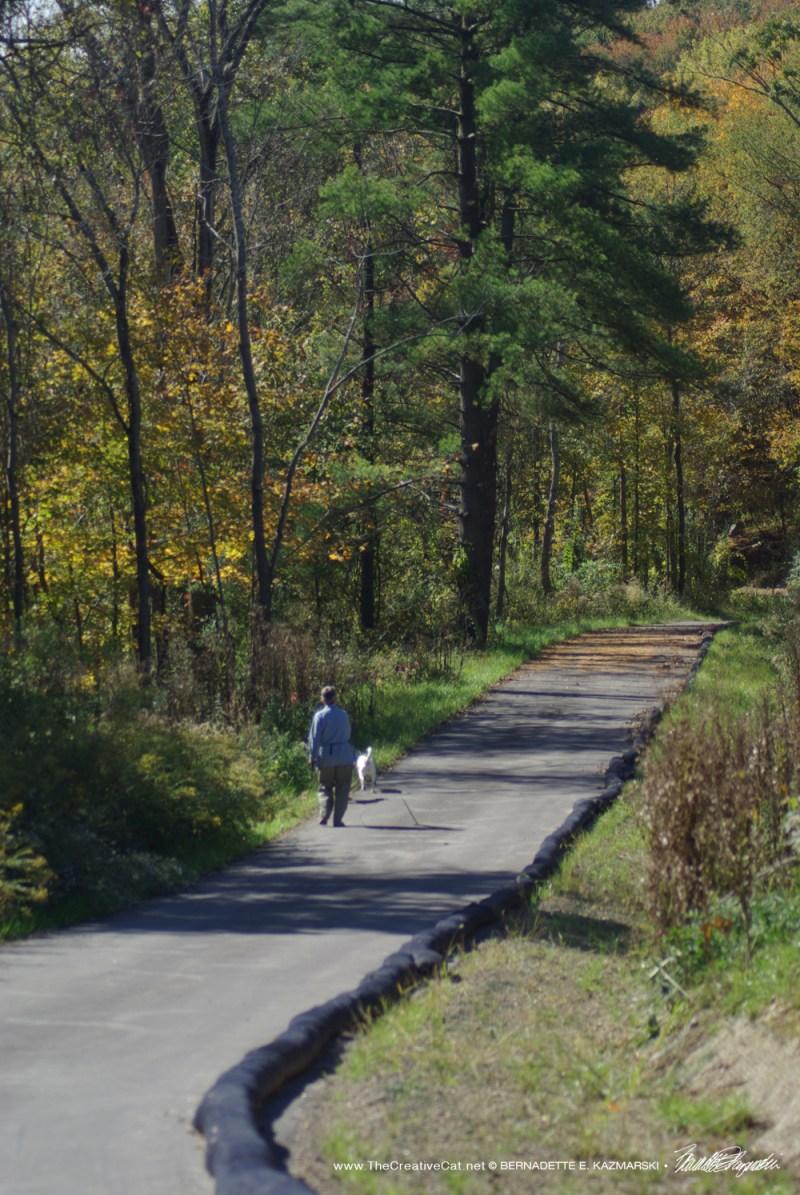 My friend walking along the trail.