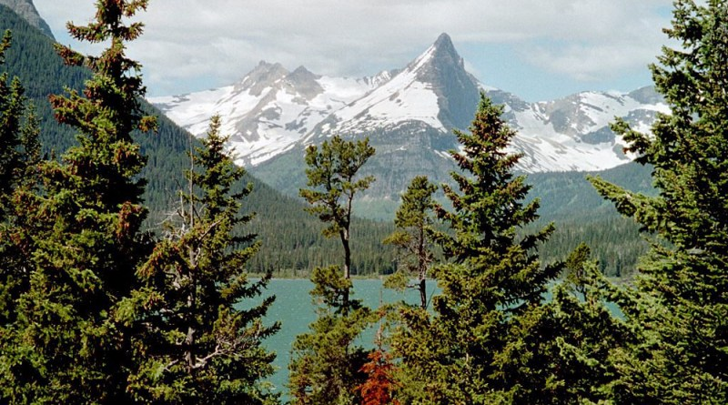 The mountains and lake.